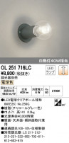 ODELIC オーデリック LED ブラケット 小型シーリングライト OL251716LC